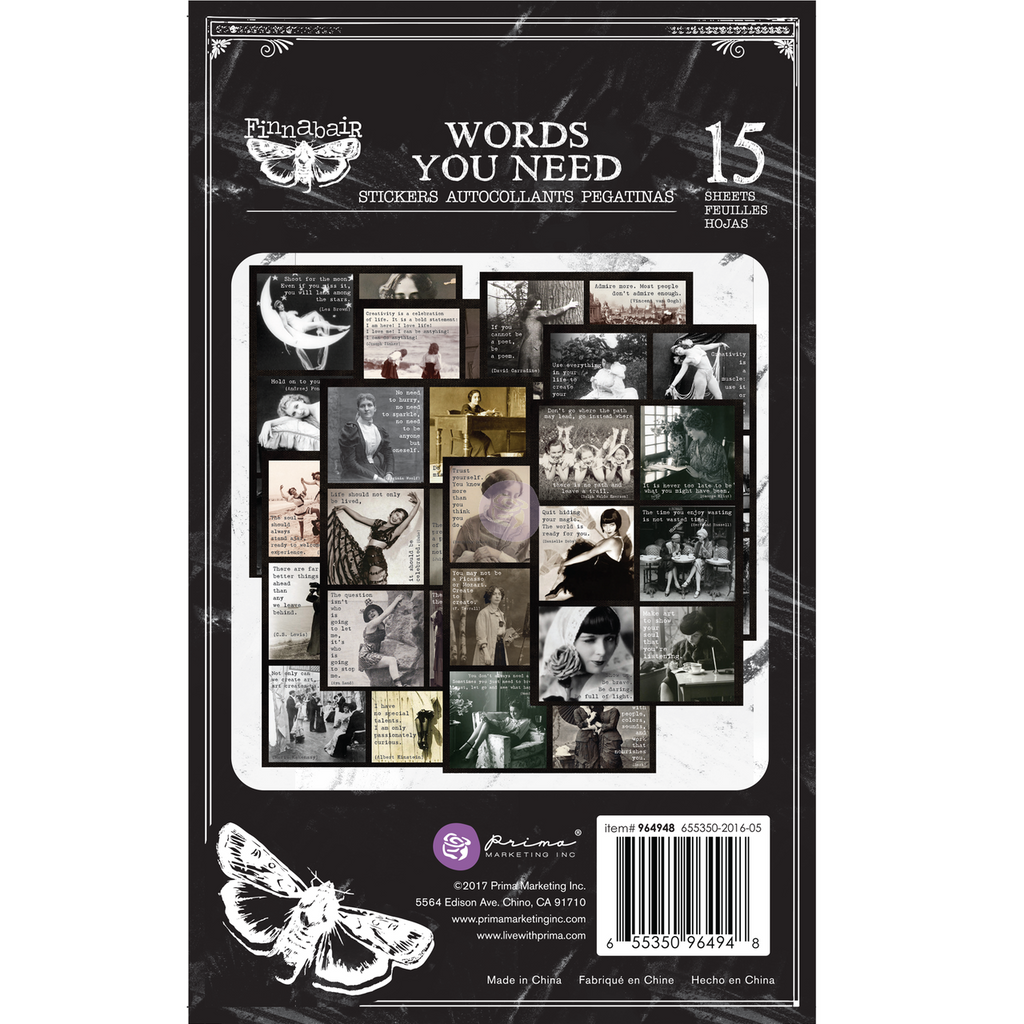 Prima - Art Daily Planner - Sticker Pad - Words You Need (964948)