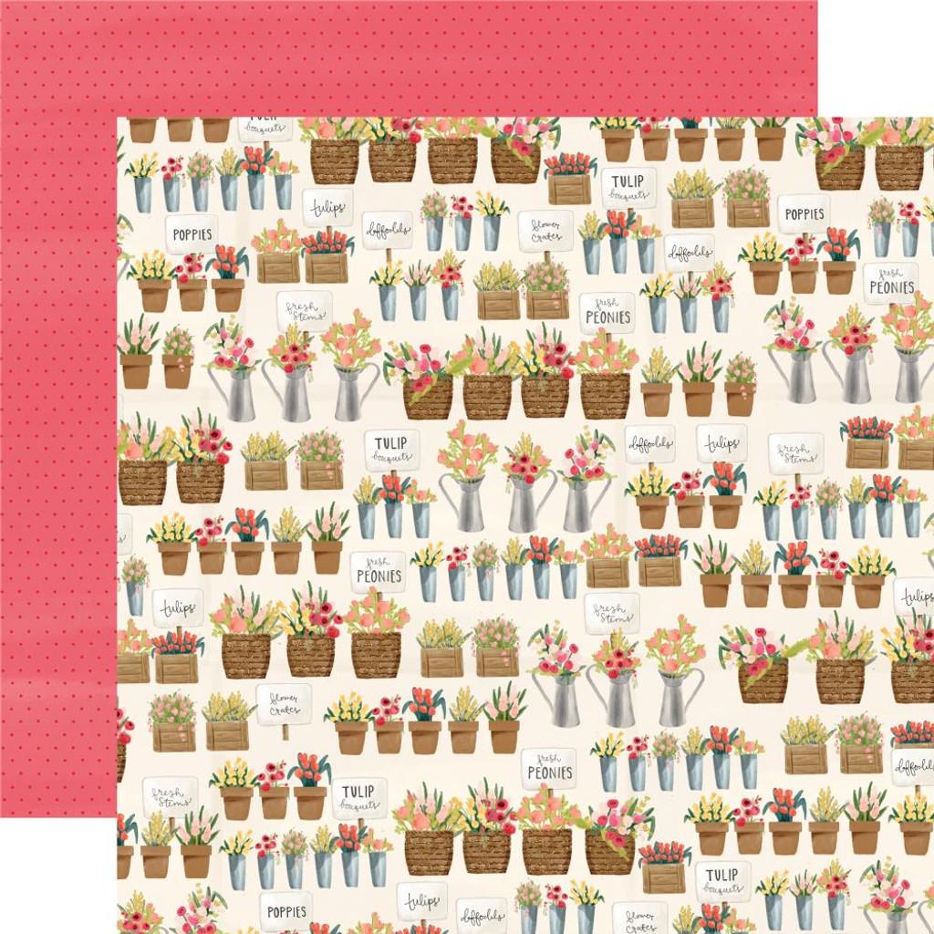 Carta Bella - Collection Kit 12 x 12 - Flower Market (CBMK96 9 )