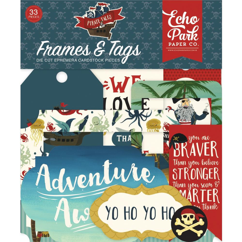 Echo Park - Cardstock Die-Cuts 6x13 - Pirate Tales - Frames and Tags (PTA176025)