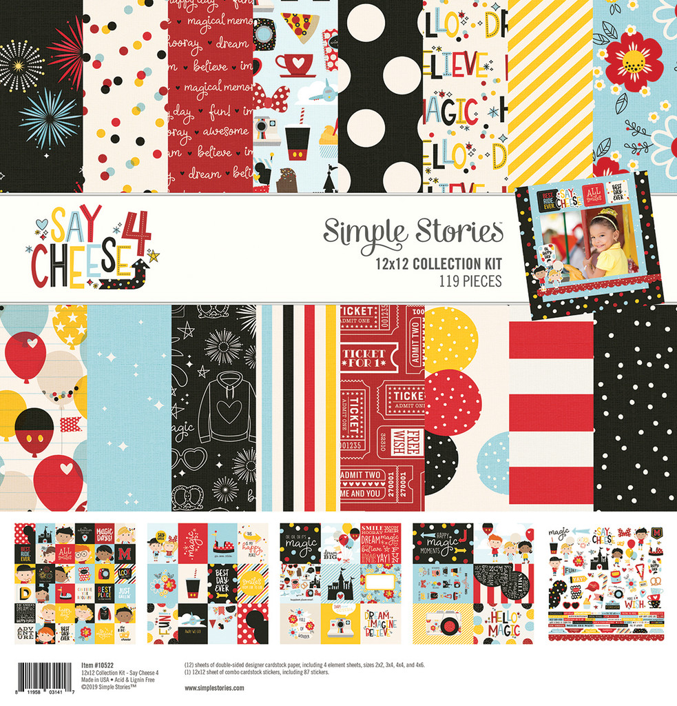 "Simple Stories Collection Kit 12""X12"" - Say Cheese 4 (SAY10522)"