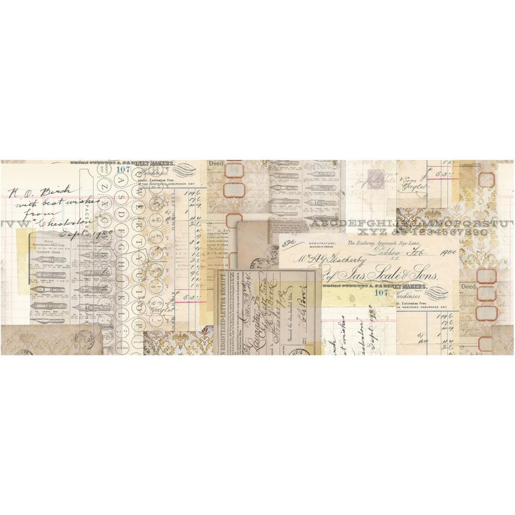 """Tim Holtz - Idea-Ology - Collage Paper 6""""X6 yds - Typography (TH93952)"""
