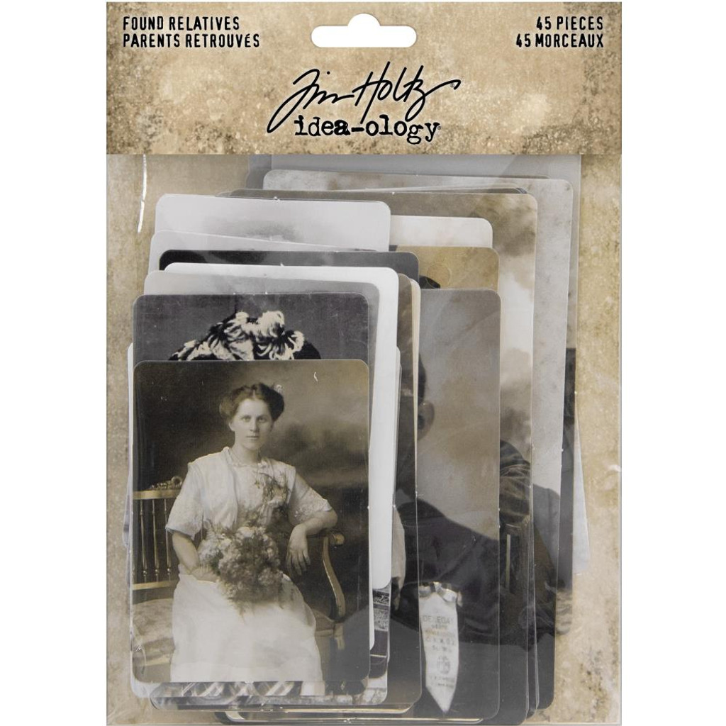 Tim Holtz - Idea-Ology - Found Relative - Vintage Portraits (TH93798)