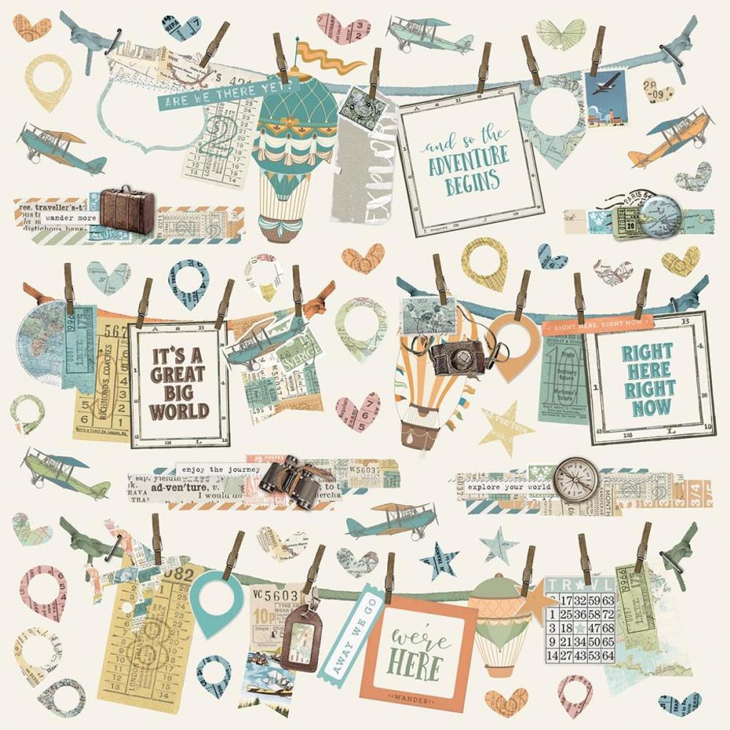 Simple Stories - Cardstock Stickers 12x12 - Simple Vintage Traveler (10730)