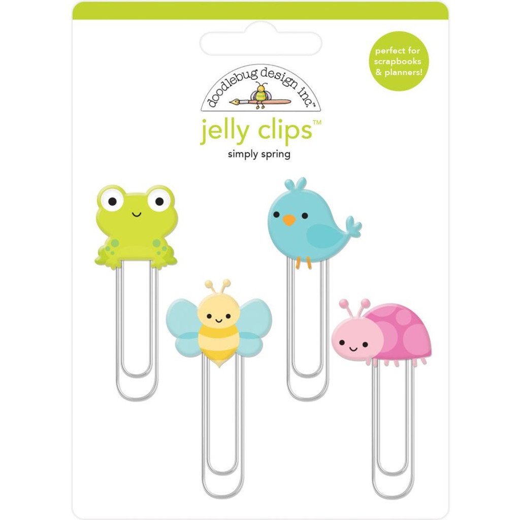 Doodlebug - Jelly Clips 4/Pkg - Simply Spring (JC6245)