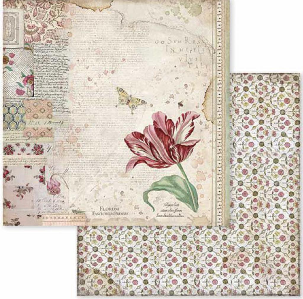 Stamperia - Double-Sided Cardstock 12x12 - Spring Botanic - Spring Tulip (SBB604)