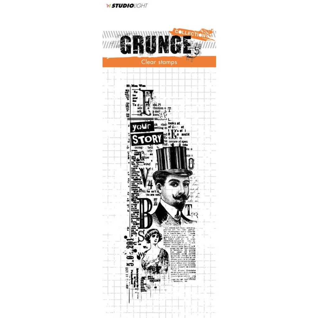 Studio Light - Grunge Collection Stamp - Gentleman No 345 (STAMP345)
