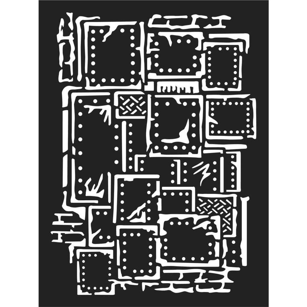 """Stamperia - 7.87"""" X 5.91"""" Stencil - Steampunk (KSAT03)"""