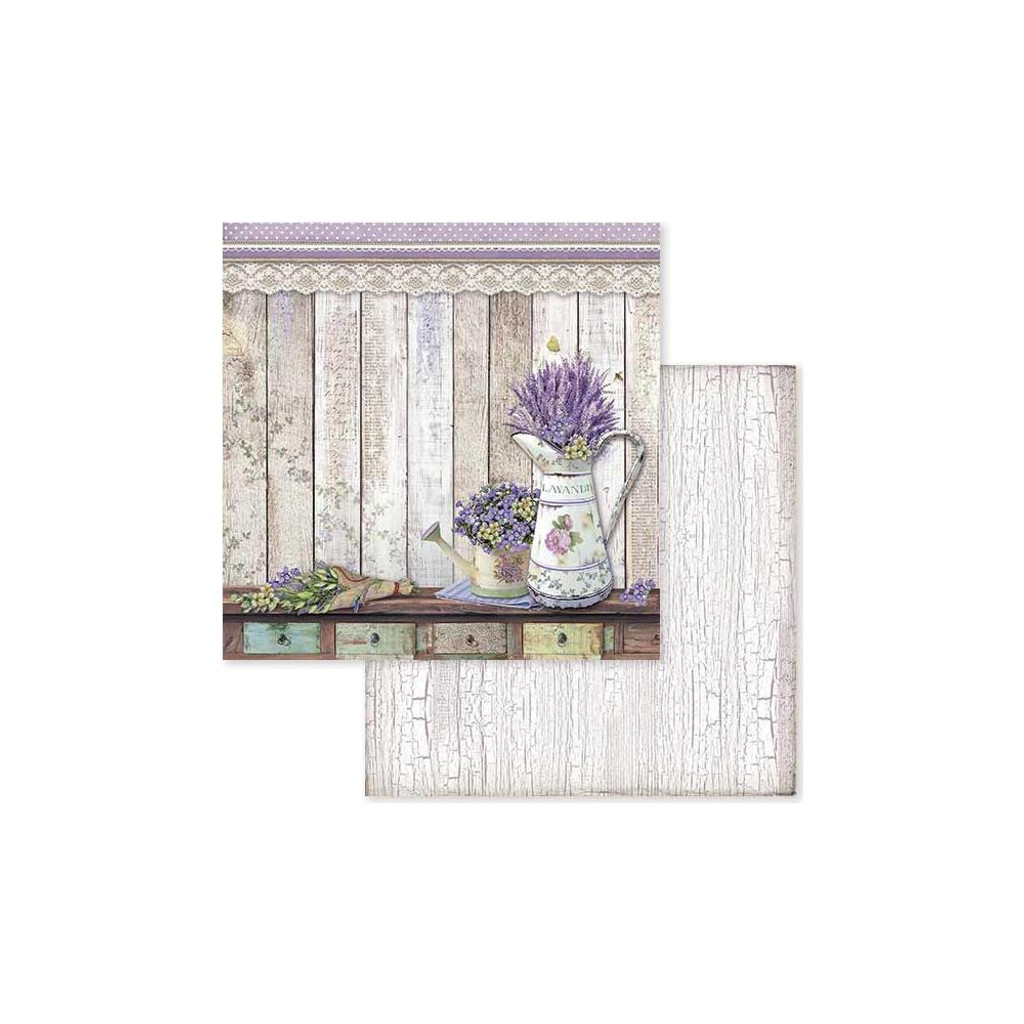 Stamperia - Double-Sided Cardstock 12x12 - Provence - Watering Cans (SBB596)