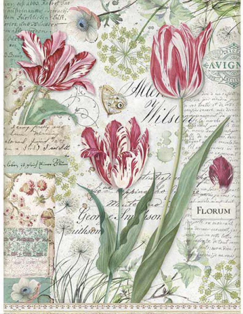 Stamperia - Decoupage Rice Paper A4 - Red Tulip (DFSA4354)