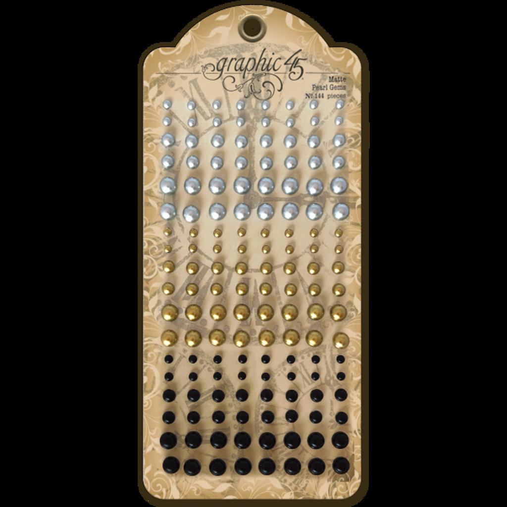 Graphic 45 Staples Matte Pearl Gems (G4501809)