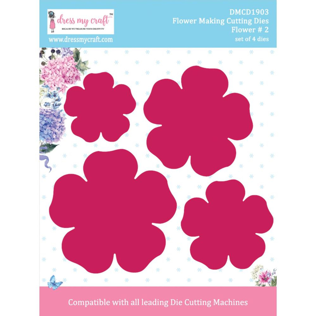 "Dress My Crafts - Die-Cuts - Flower #2 1.77"" To 3.15"" (DMCD1903)"