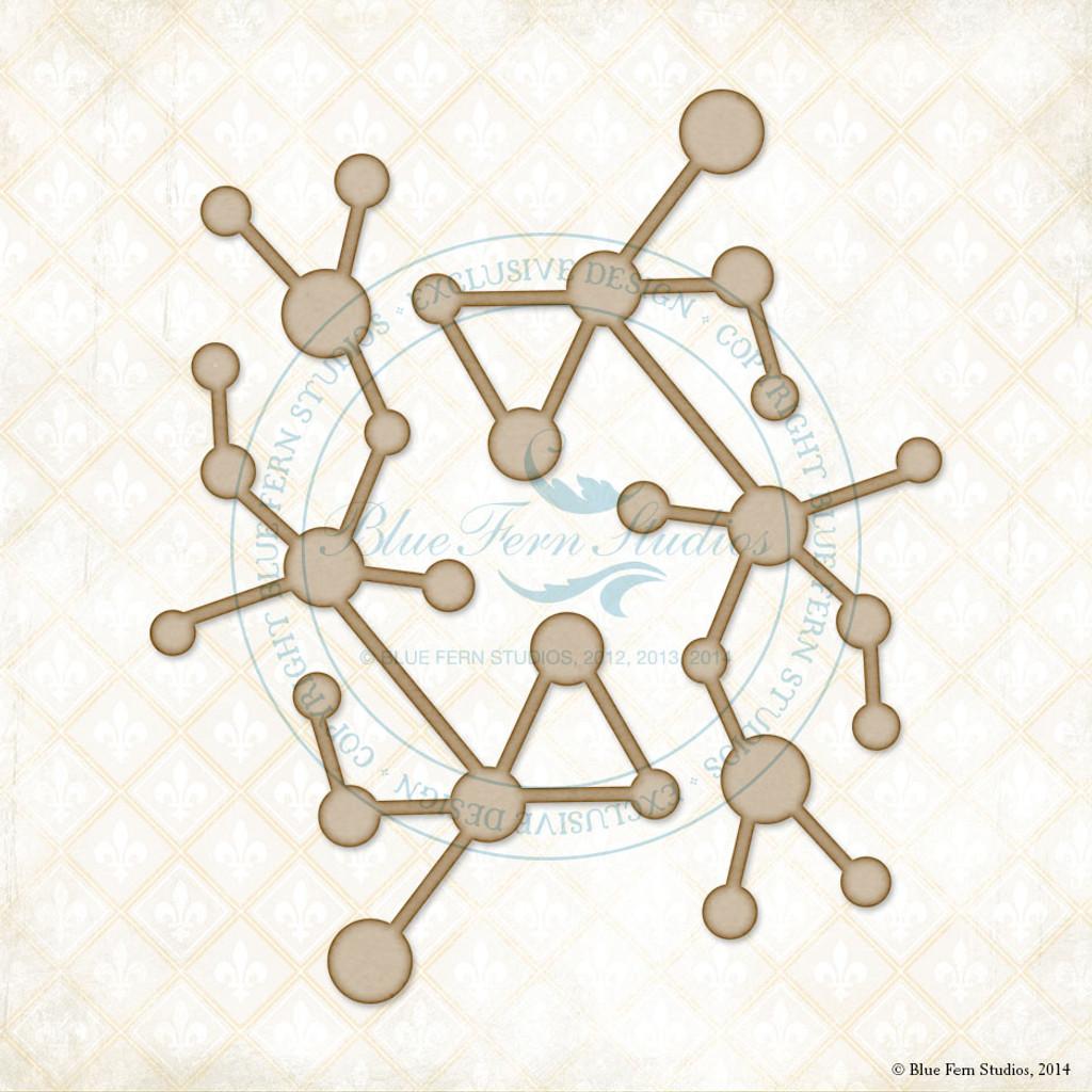 Blue Fern Studios - Chipboard - Molecules (232489)