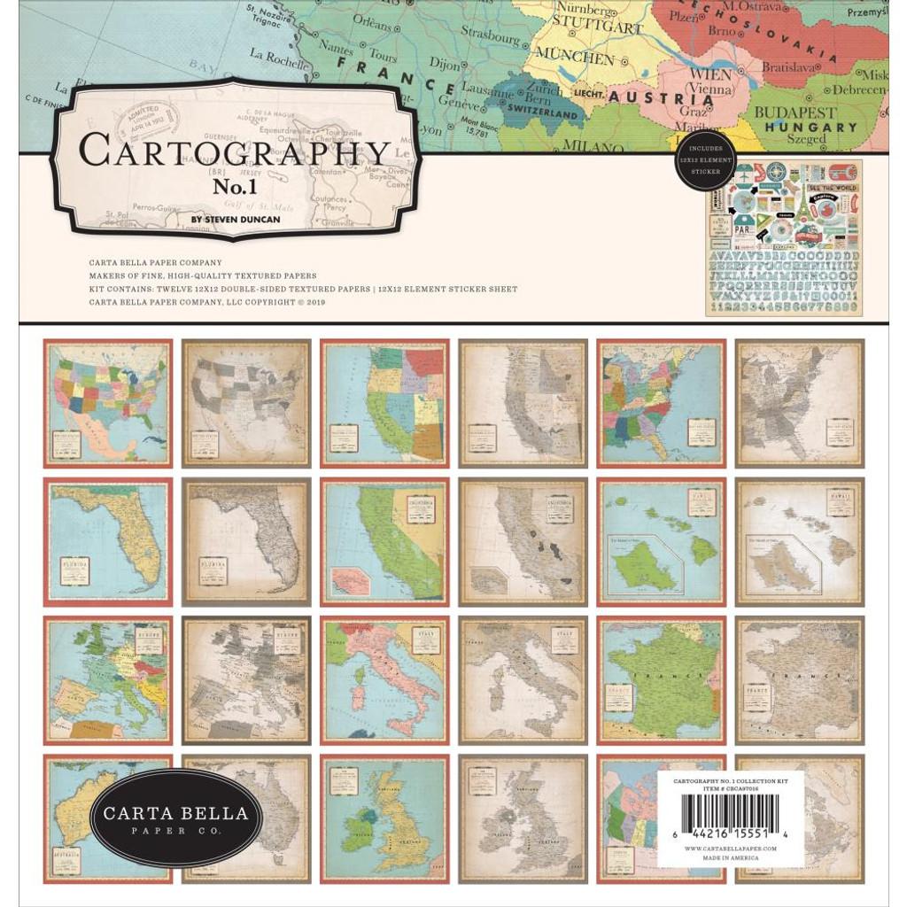 Carta Bella - 12x12 Collection Kit - Cartogrophy No 1 ( CA97016)