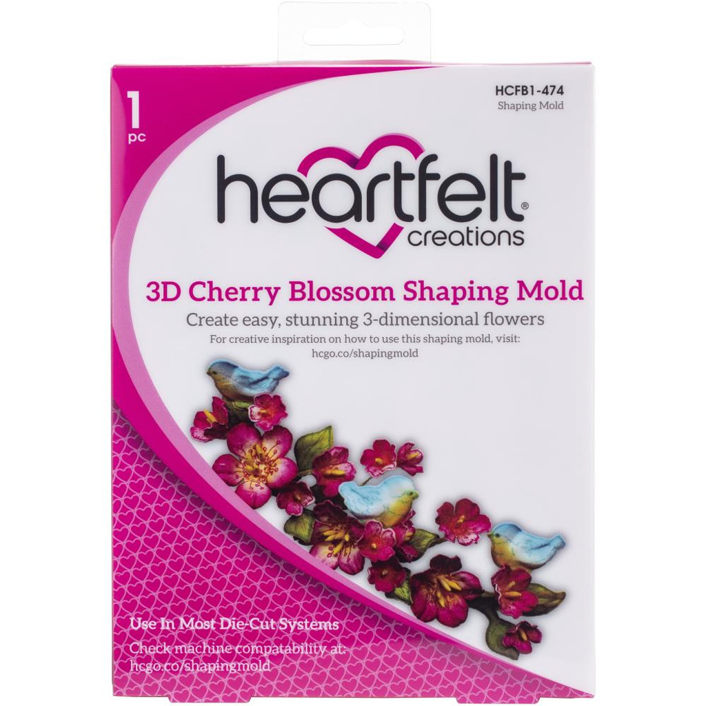 Heartfelt Creations - 3D Shaping Mold - Cherry Blossoms (HCFB1474)