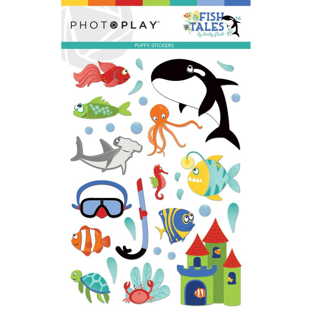Photoplay - Puffy Stickers - Fish Tales (FTS9316)