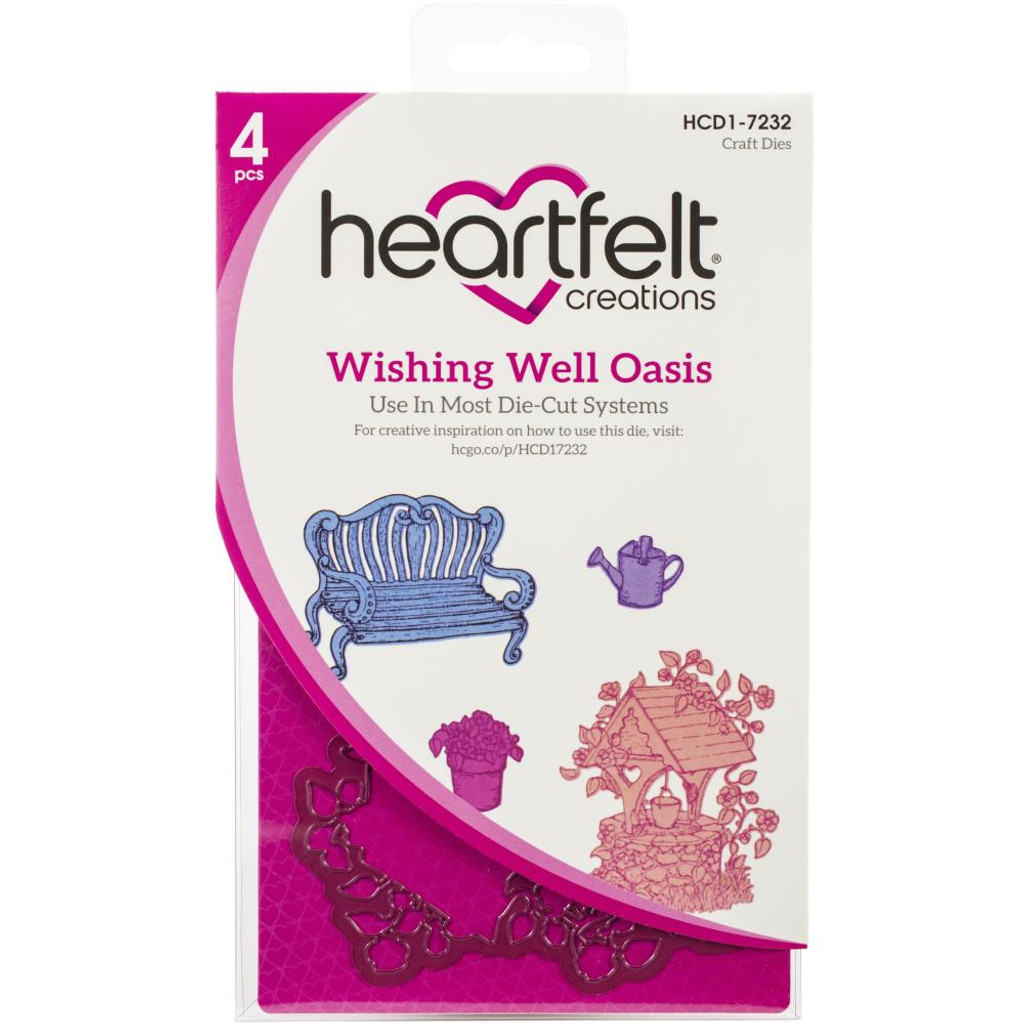 Heartfelt Creations - Cut & Emboss Dies - Wishing Well Oasis (HCD17232)
