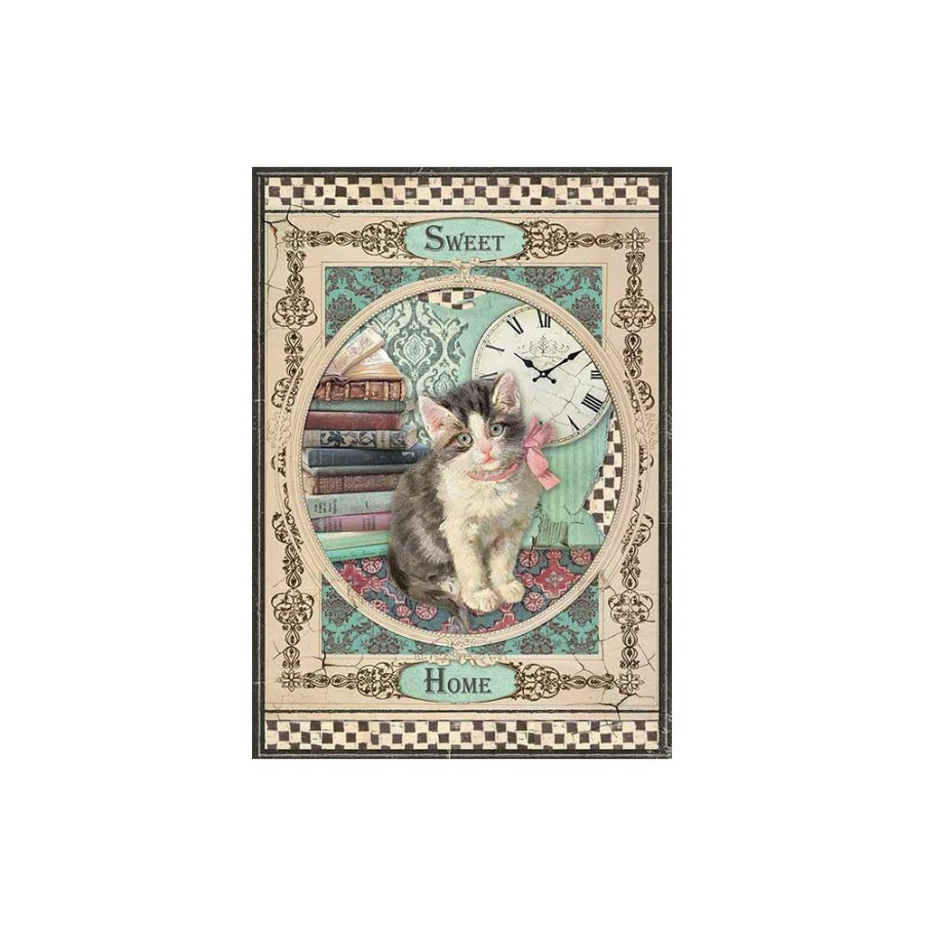 Stamperia - Decoupage Rice Paper A4 - Sweet Home Cat (DFSA4353)