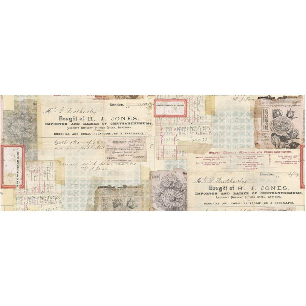 """Tim Holtz - Idea-Ology - Collage Paper 6""""X6 yds - Document (TH93951)"""