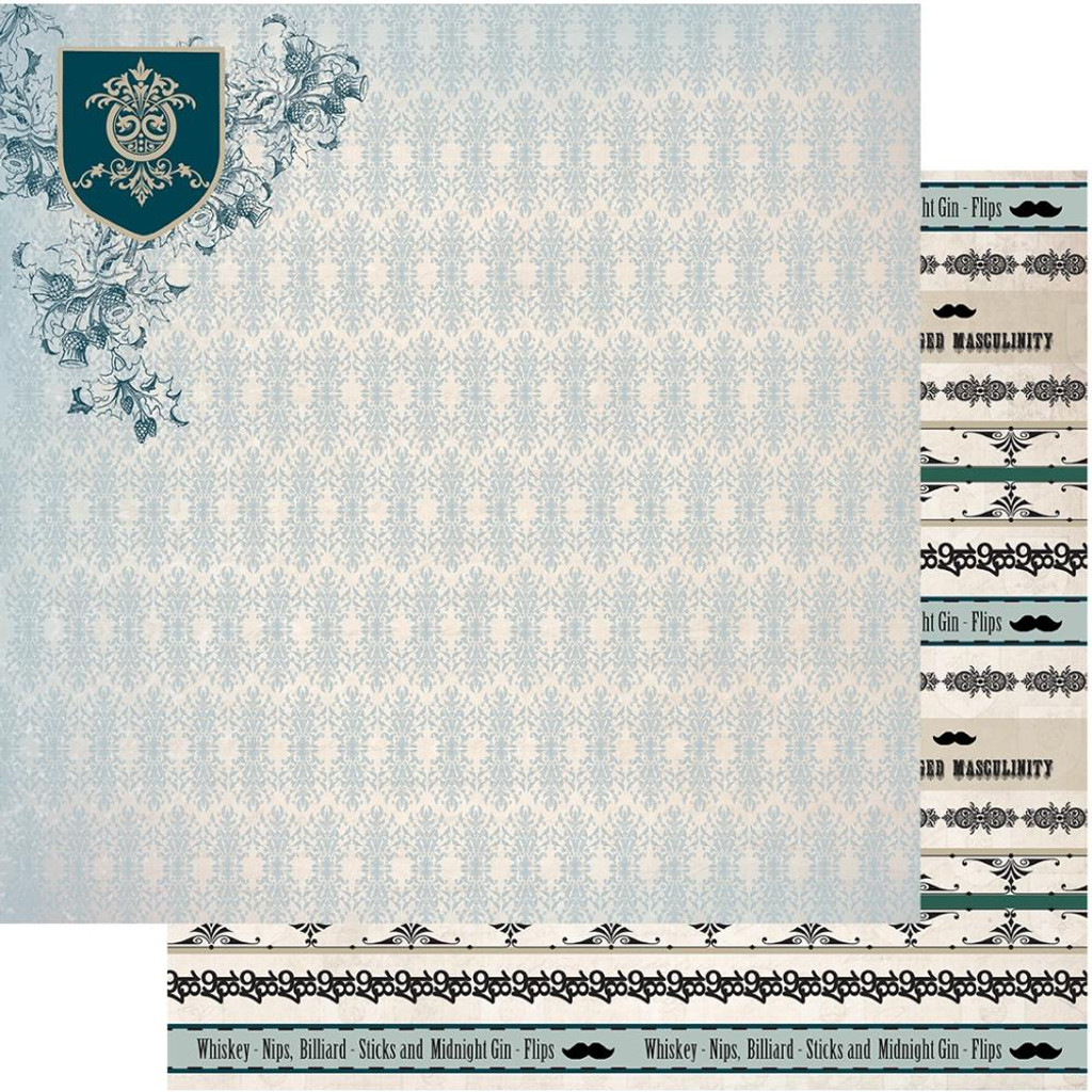 "Couture Creations - Gentleman's Emporium - Double-Sided Paper 12""X12"" - No7 (CO726820)"