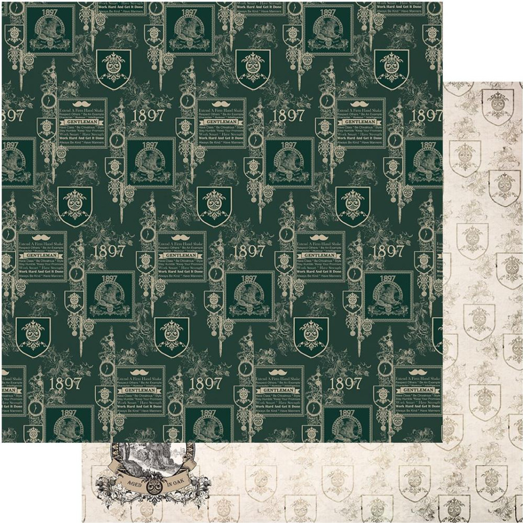 """Couture Creations - Gentleman's Emporium - Double-Sided Paper 12""""X12"""" - No9 (CO726822)"""