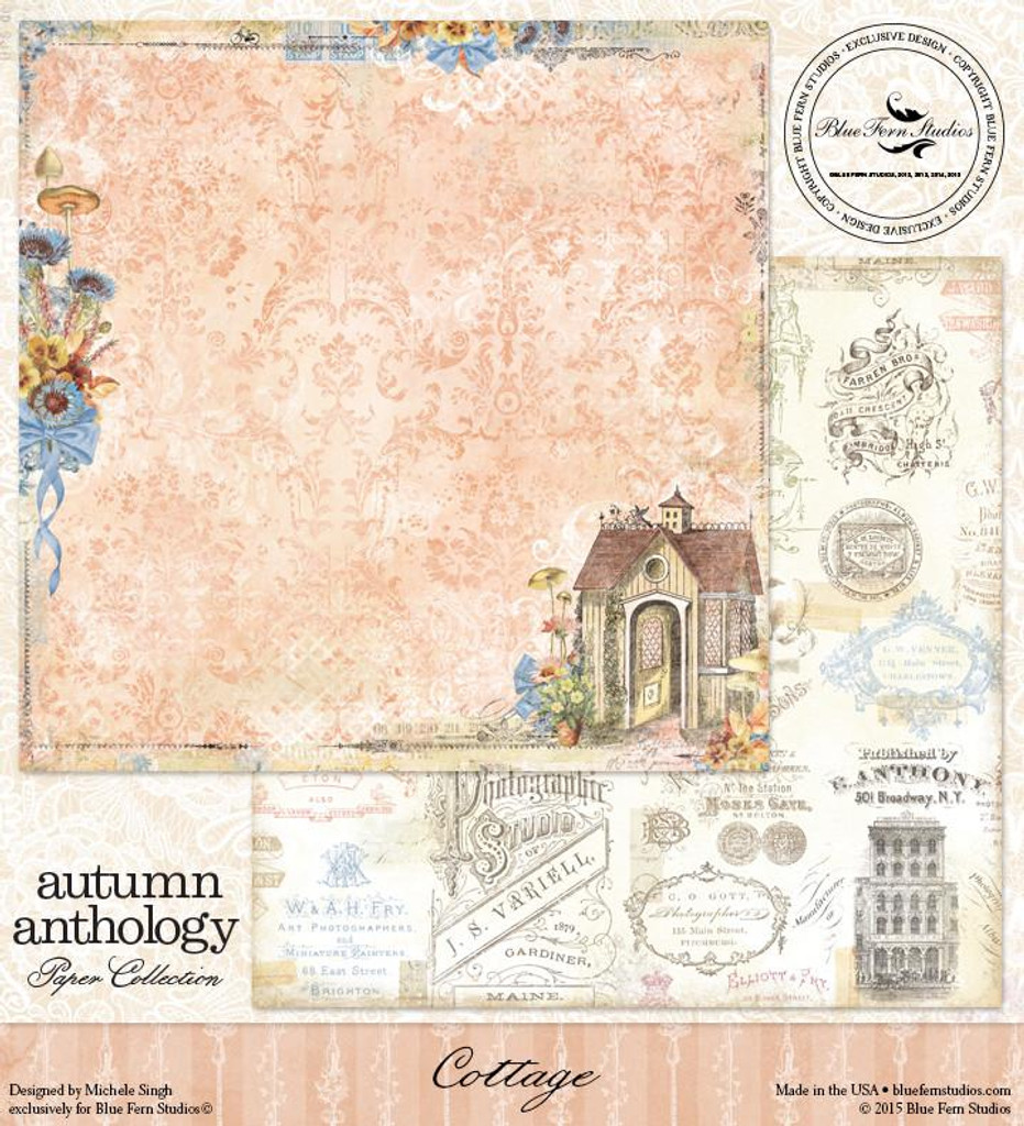 Blue Fern Studio - Autumn Anthology 12x12 dbl sided paper - Cottage (074349)