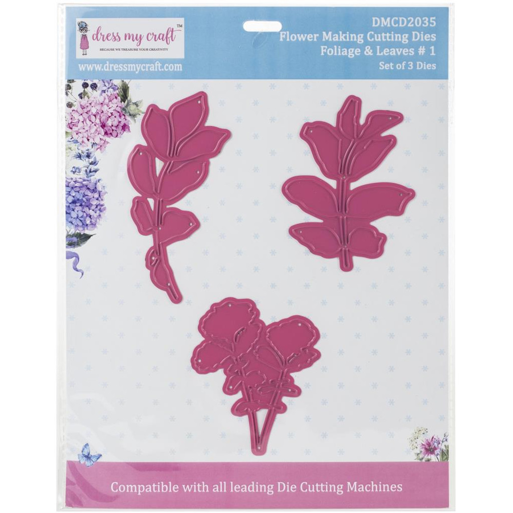 Dress My Crafts - Flower Making - Foliage & Leaves #1 (DMCD2035)