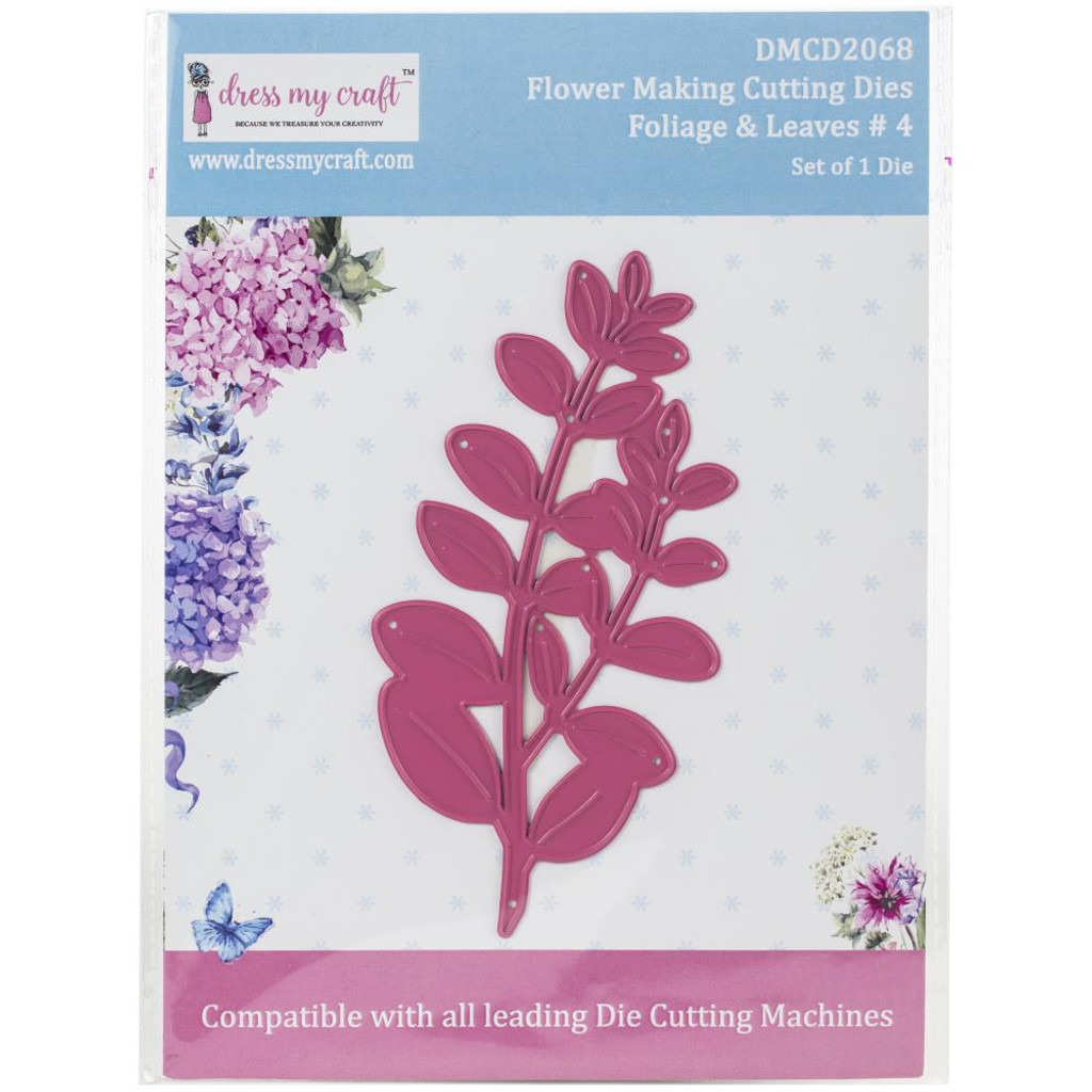 Dress My Crafts - Flower Making - Foliage & Leaves #4 (DMCD2068)