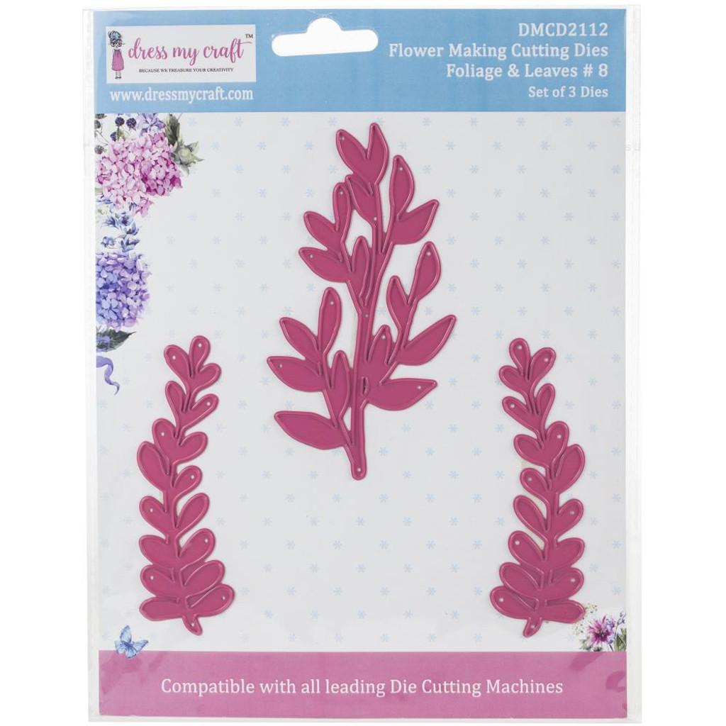 Dress My Crafts - Flower Making - Foliage & Leaves #8 (DMCD2112)
