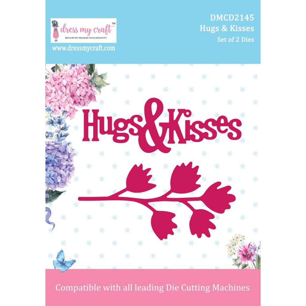 Dress My Crafts - Floral & Sentiment Dies - Hugs & Kisses (DMCD2145)