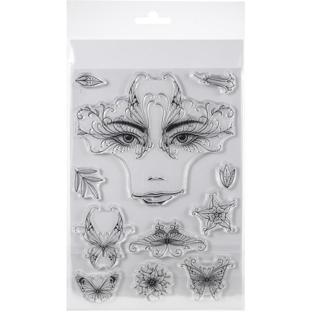 Pink Ink Designs - A5 Clear Stamp Set - Thalia (PI023)