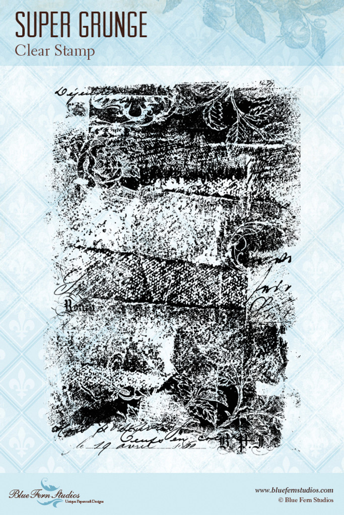 Blue Fern Studios - Clear Stamp - Super Grunge (848988)