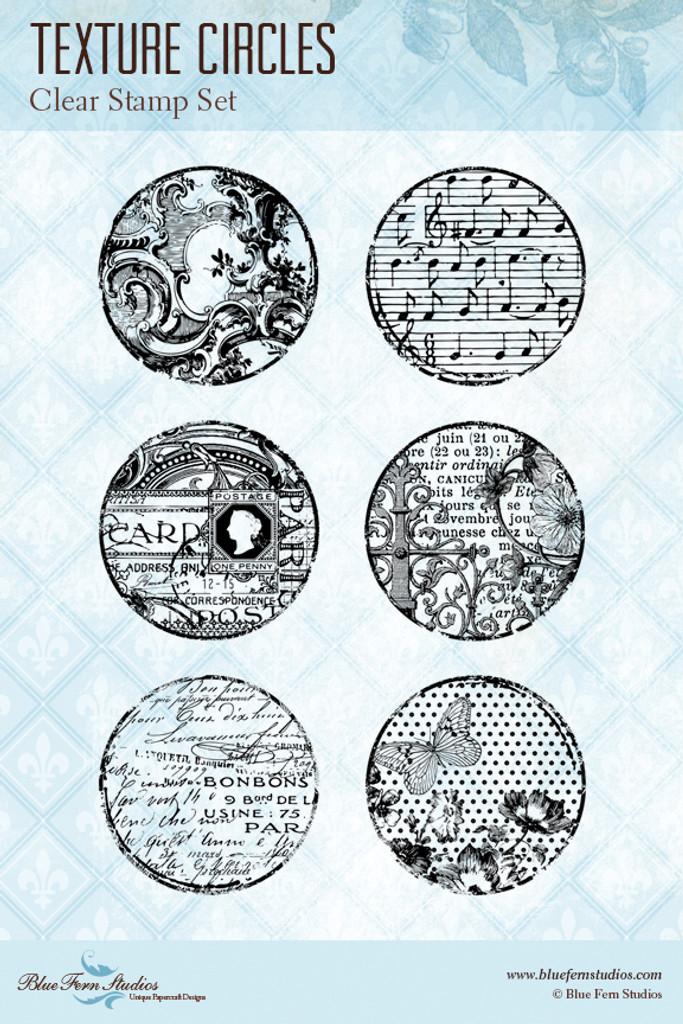 Blue Fern Studios - Clear Stamp - Texture Circles (150579)