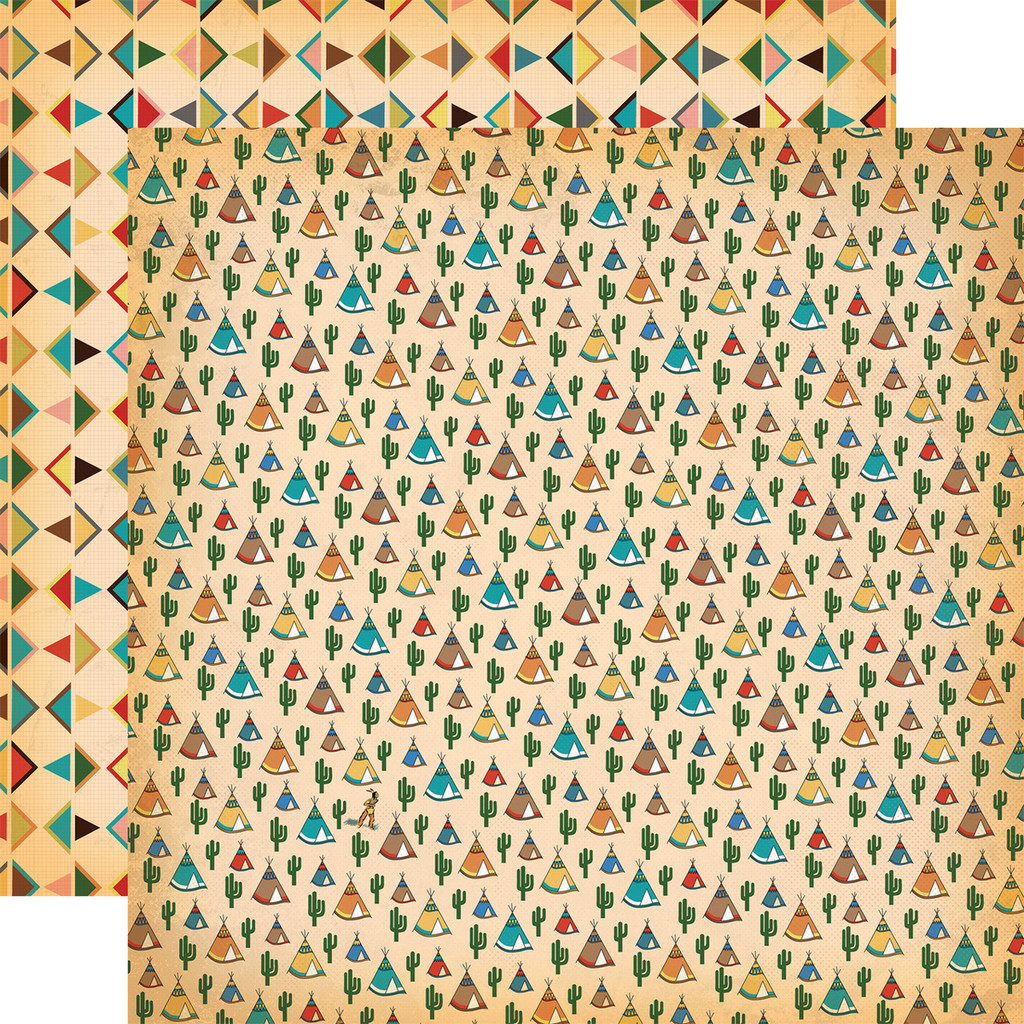 Carta Bella - 12x12 Double Sided Paper - Cowboy Country - Teepees (CBCC77011)