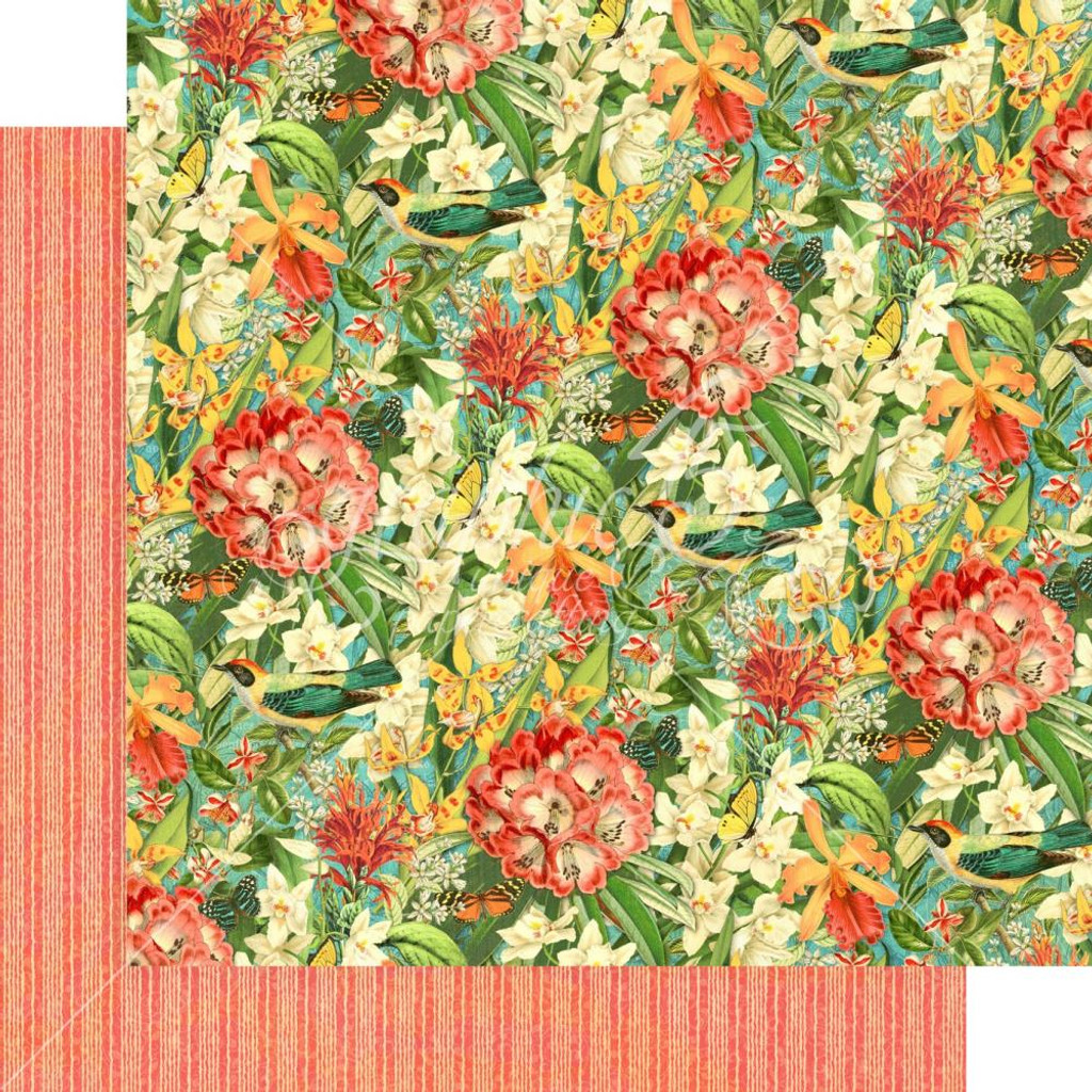 Graphic 45 - 12x12 Double Sided Paper- Lost In Paradise - Lush Labyrinth (LIP450 1889)