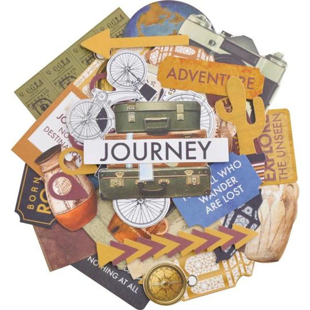 Kaisercraft - Ephemera Collectables Cardstock Die-Cuts - Journey (CT964)