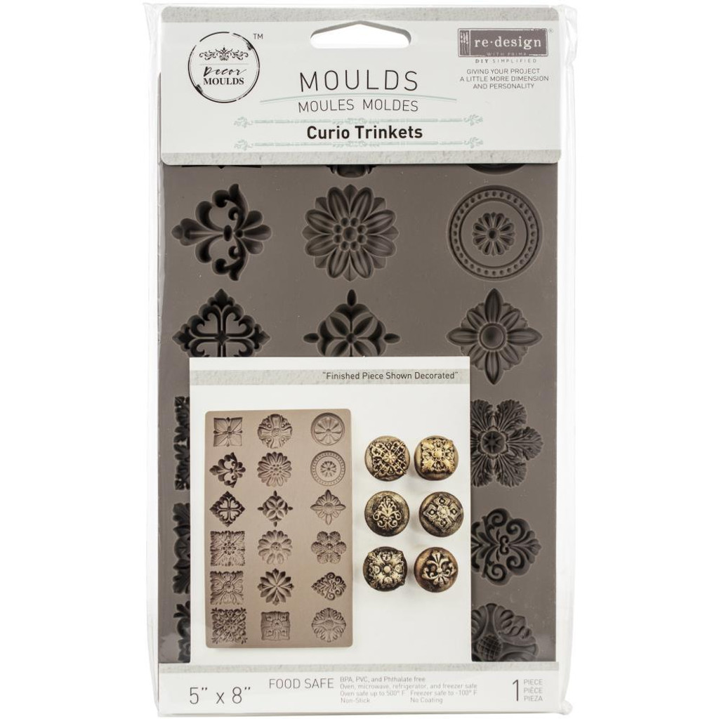 Prima Re-Design Iron Orchid Art Decor Moulds - Curio Trinkets (MOULD - 8856)