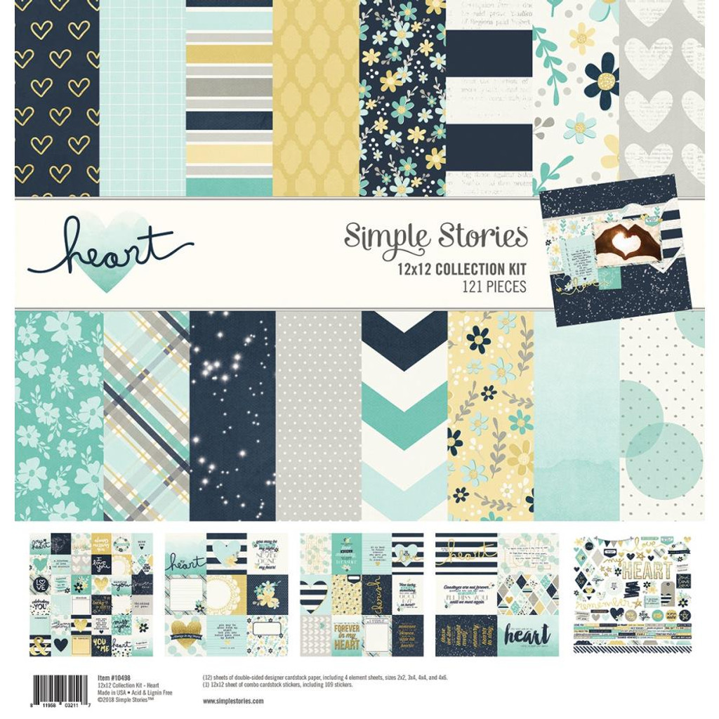 Simple Stories - Collection Kit - 12 X 12 - Heart (HAR10498)