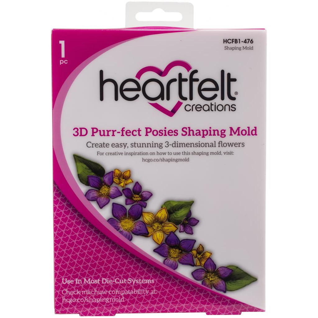 Heartfelt Creations - 3D Shaping Mold - Purr-Fect Posies (HCFB1476)