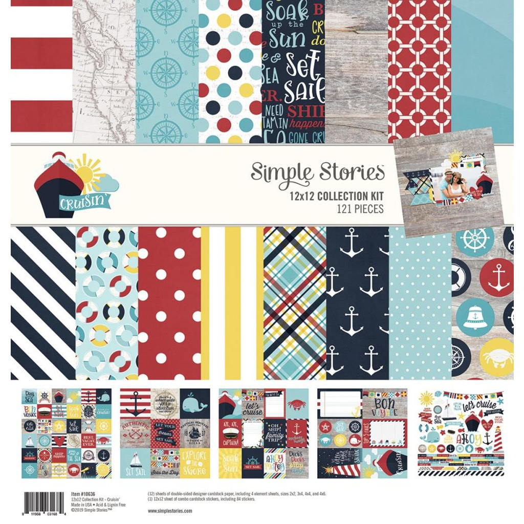 Simple Stories - 12x12 Collection Kit - Crusin' (RUI10636)