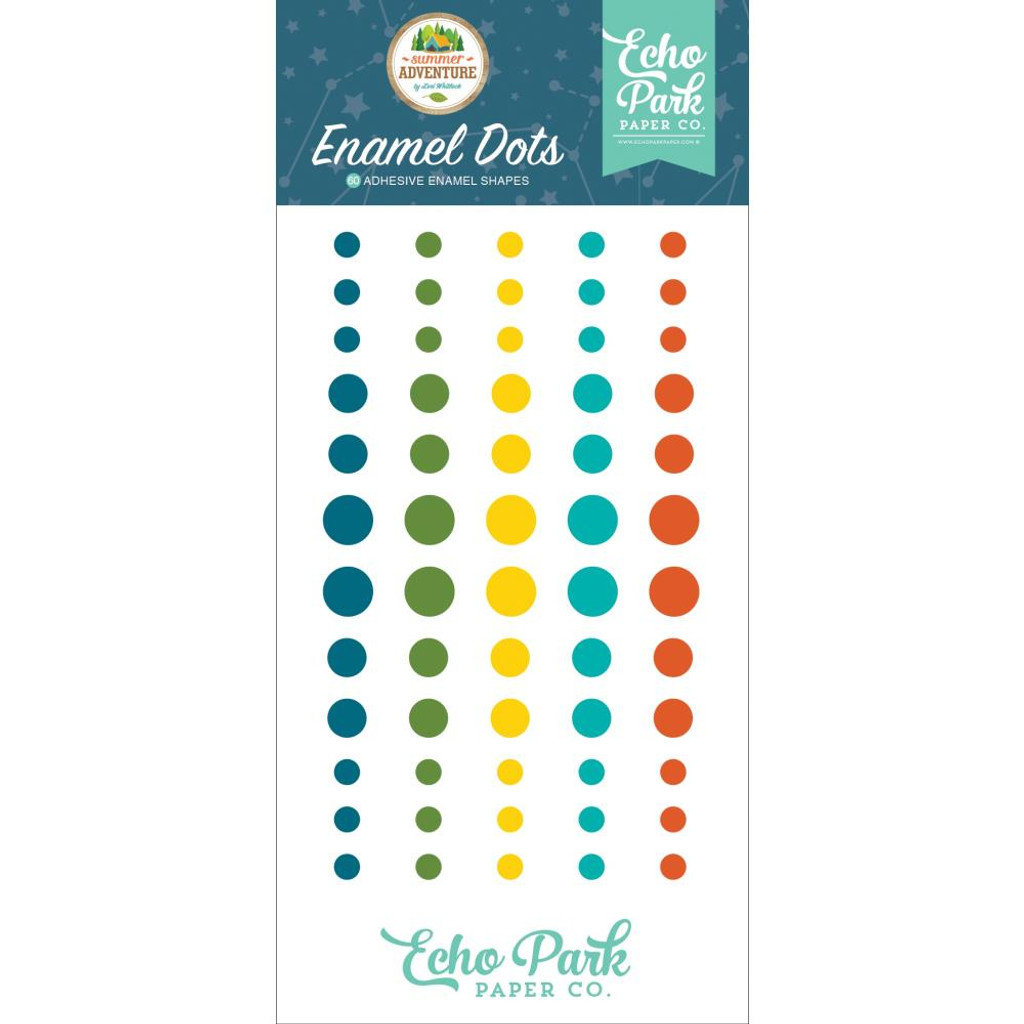 Echo Park- Enamel Dots 60/Pkg - Summer Adventure (SA180028)