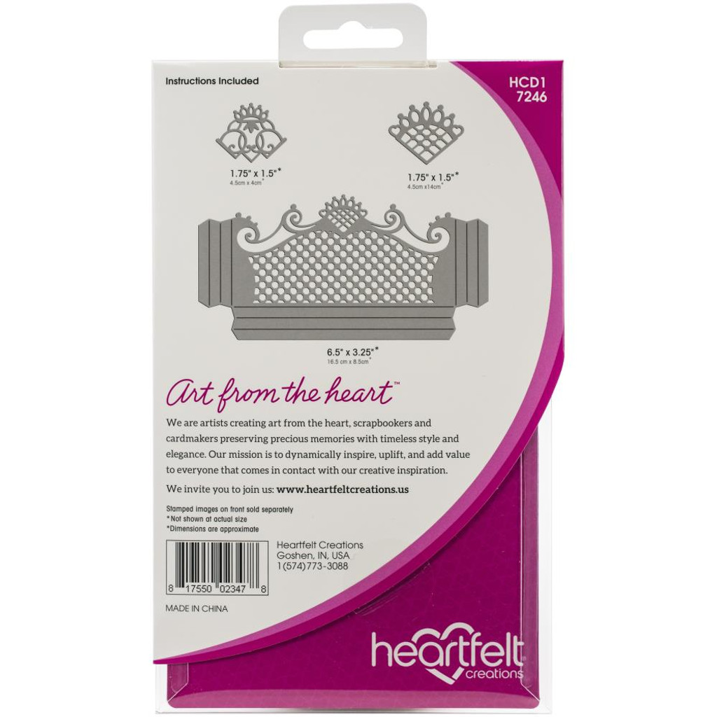 "Heartfelt Creations - Pocket and Accent Dies 25"" To 6.75""- Fanci-Fold (HCD17246)"