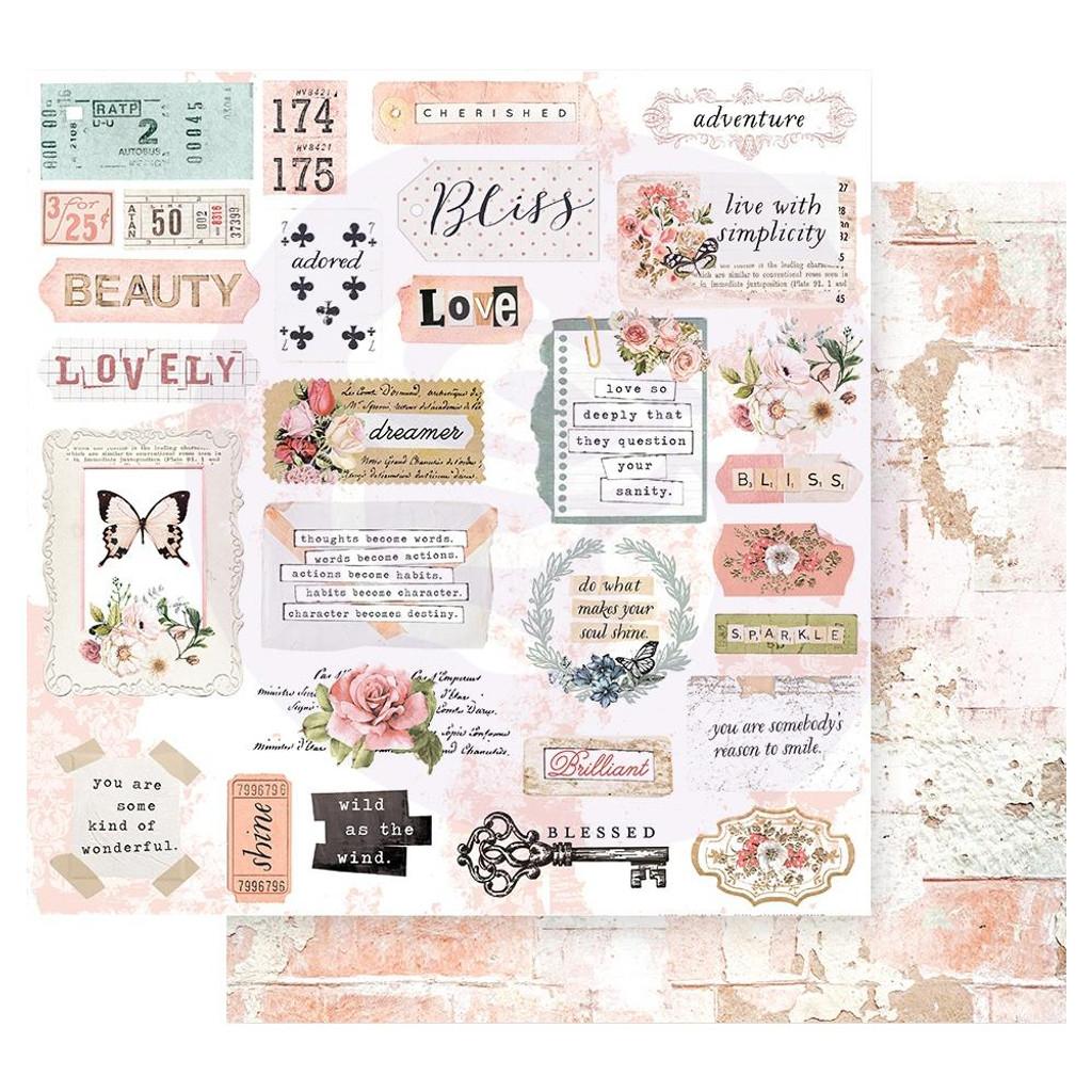 Prima Marketing - 12x12 Paper w/Foil Accents - Apricot Honey Collection - 12 Pkg (AH Collection-12/Pkg)
