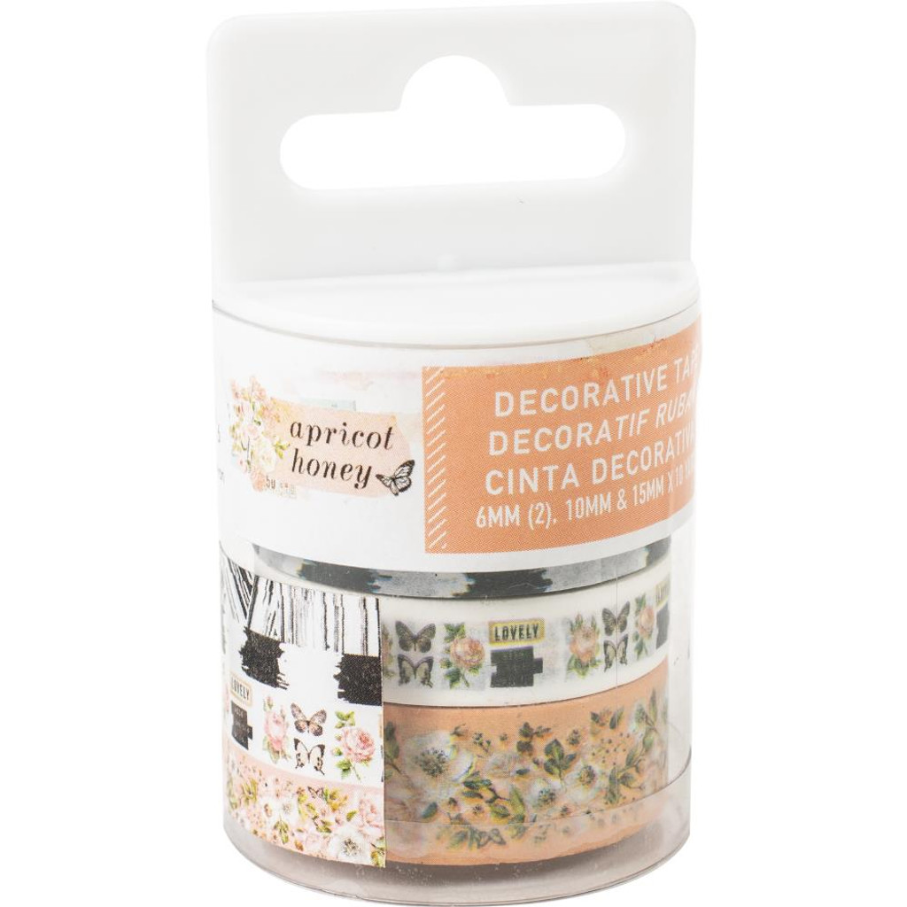 Prima Marketing - Decorative Tape 4/Pkg- Apricot Honey (638986)