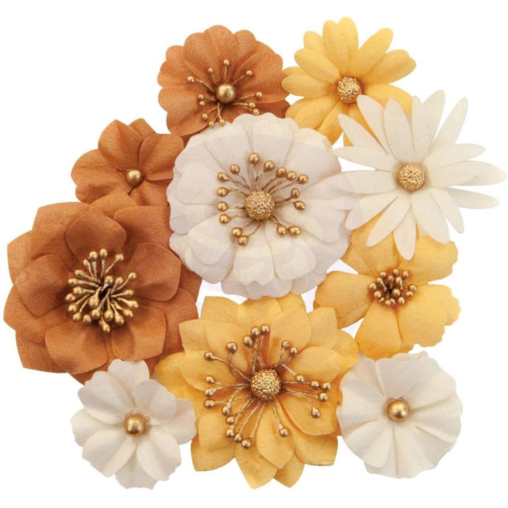 Prima Marketing - Flowers - Autumn Sunset - Harvest 10/Pkg (642754)