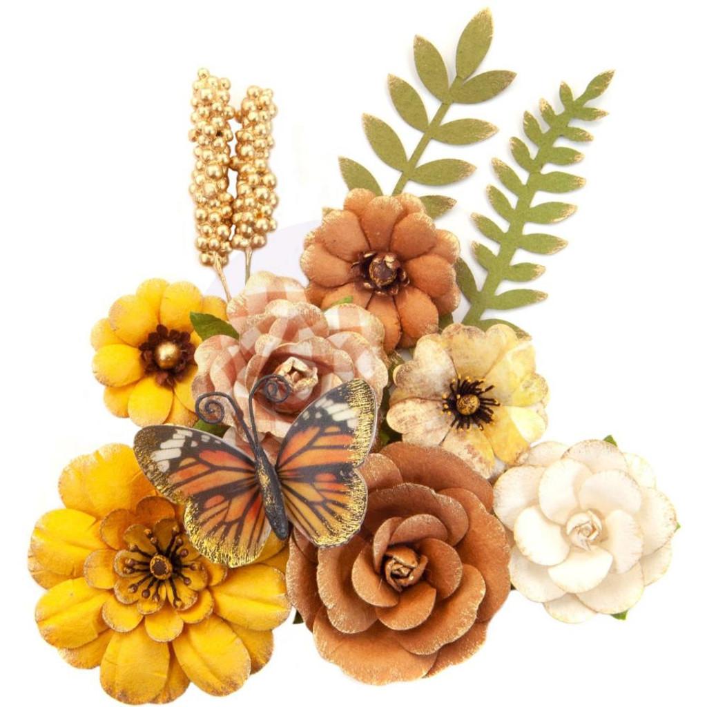 Prima Marketing - Flowers - Autumn Sunset - Pumpkin Pie 12/Pkg (642839)