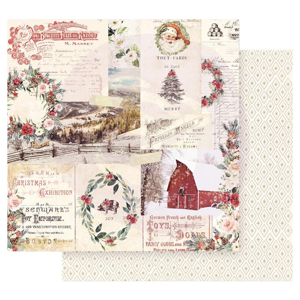 Prima Marketing - Double sided 12x12 Paper w/Foil Accents - Christmas In The Country - Christmas Joy (CITC12 95218)