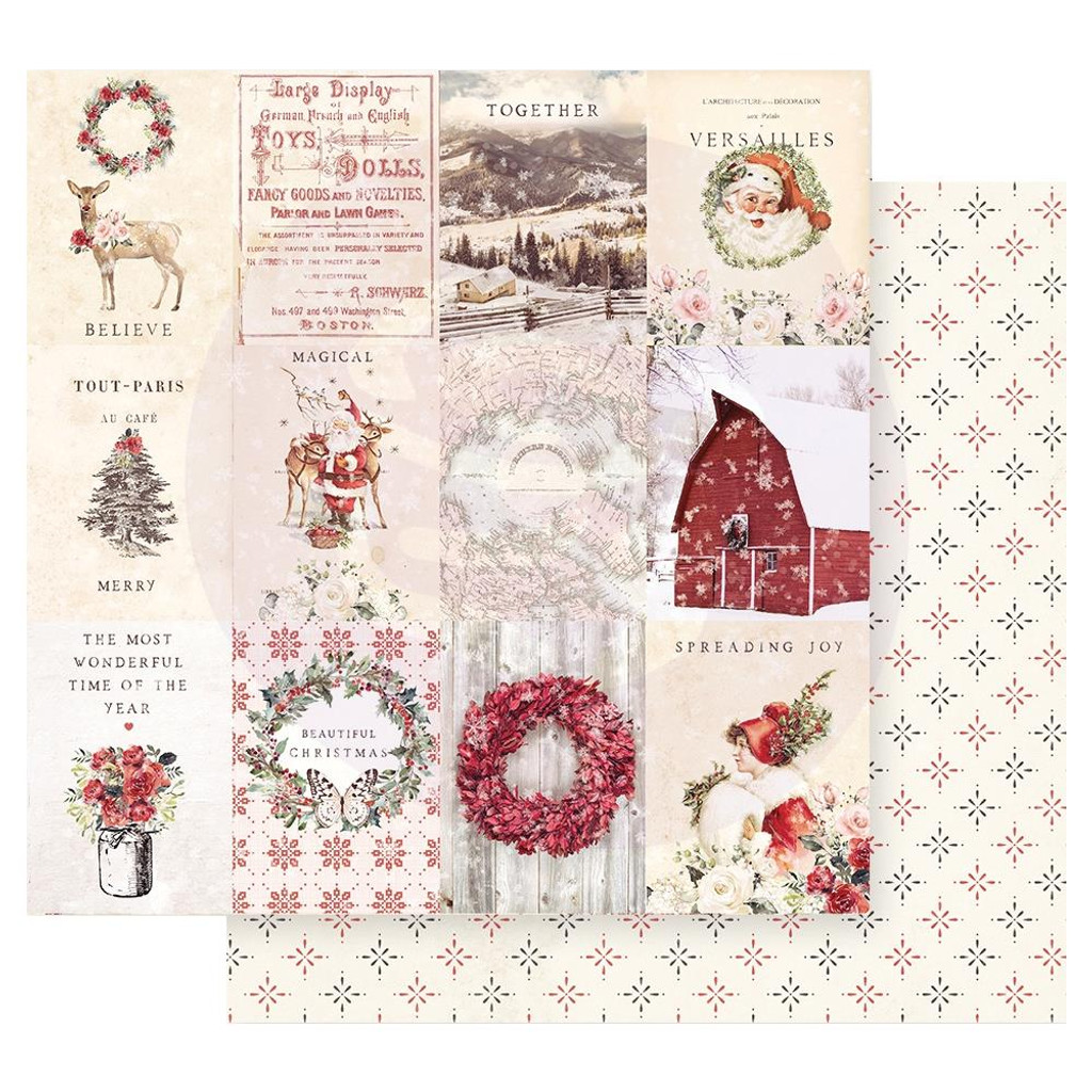 Prima Marketing - Double sided 12x12 Paper w/Foil Accents - Christmas In The Country - Spreading Christmas Magic (CITC12 95225)