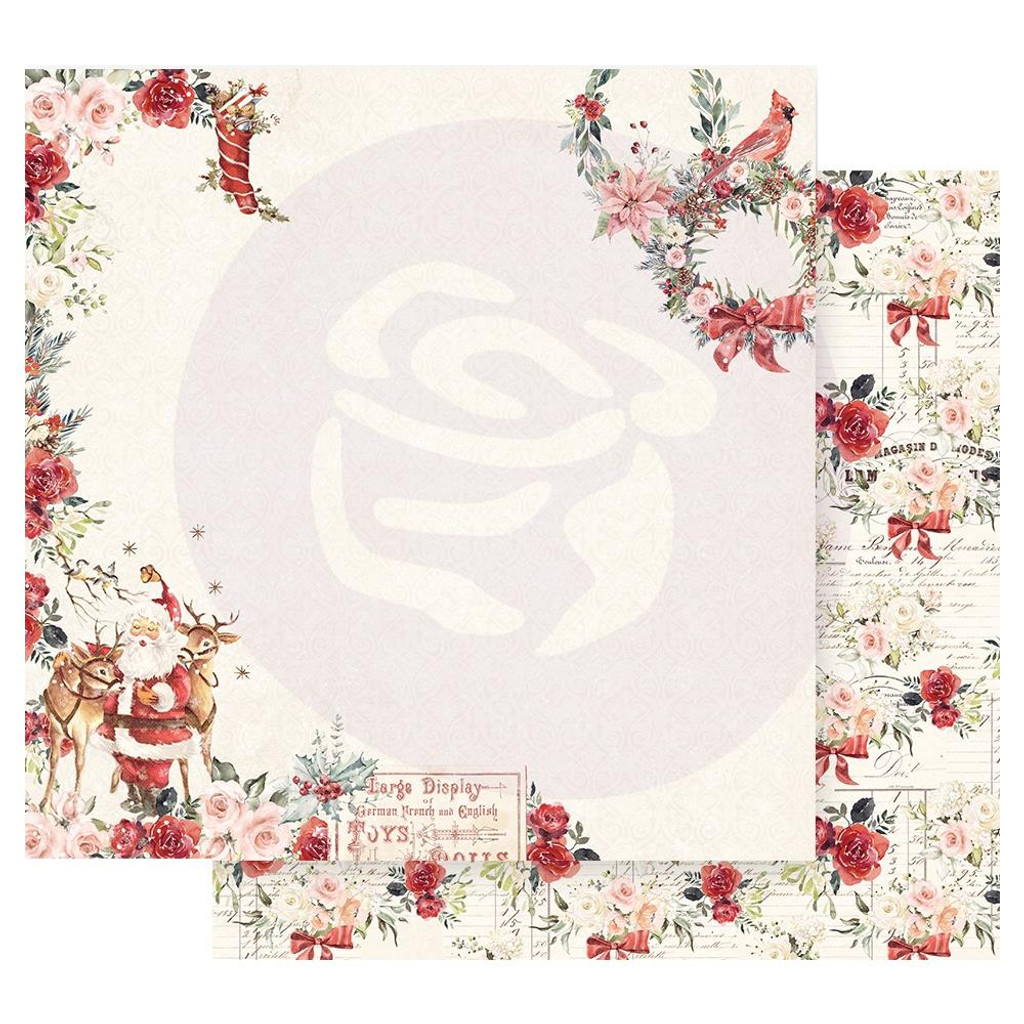 Prima Marketing - Double sided 12x12 Paper w/Foil Accents - Christmas In The Country - Sweet Santa Claus (CITC12 95249)