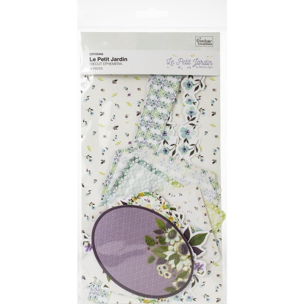 Couture Creations - Ephemera 36/Pkg- Le Petit Jardin (CO725446)