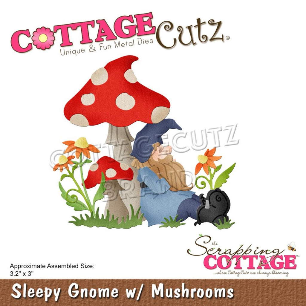 Cottage Cutz - Magical Garden - Sleepy Gnome w/Mushroom (CC630)